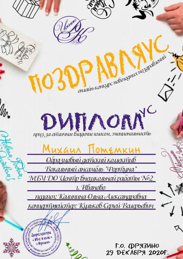 Диплом - Потемкин